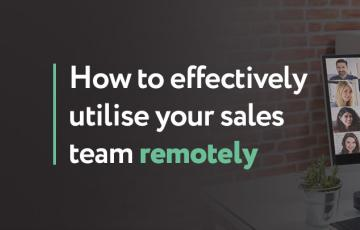 How to effectively utilise your sales team remotely