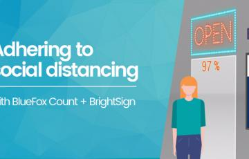 BlueFox Count + BrightSign 's social distancing solution