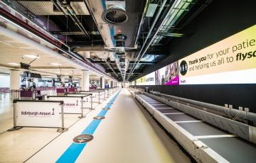 Europe's Largest LED Check-in Display  - Edinburgh Airport