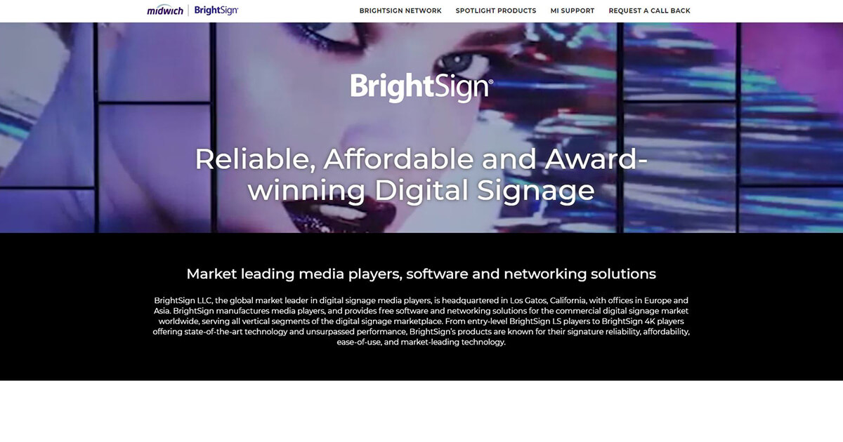 BrightSign Digital Signage Media Players | In Stock and