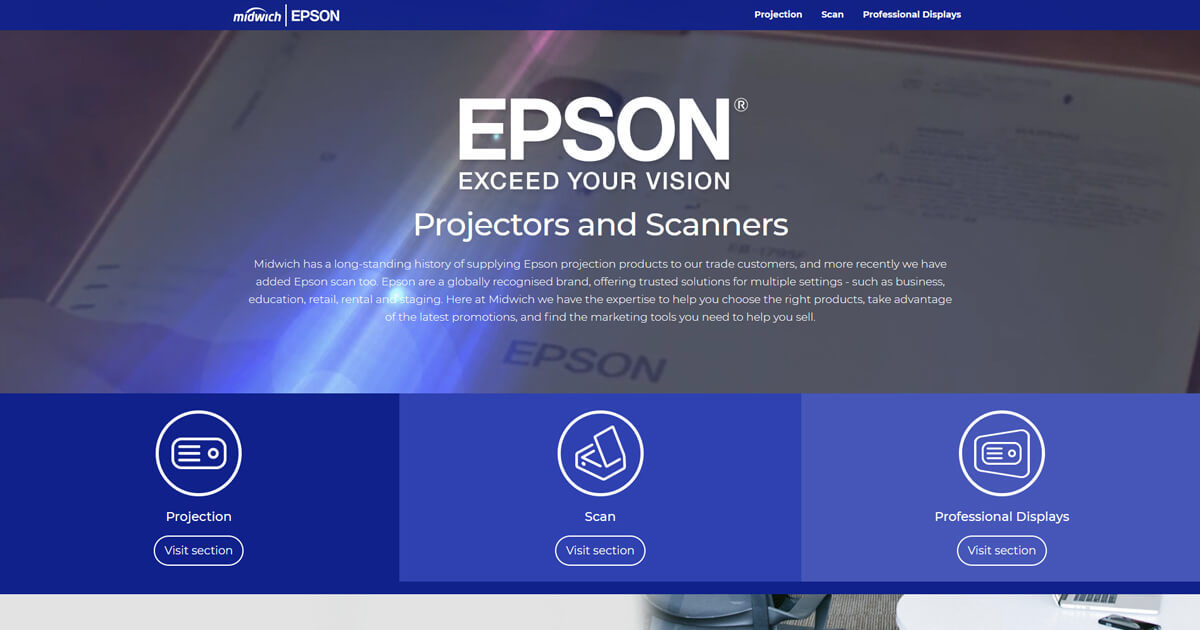 Epson Projectors and Scanners | Midwich